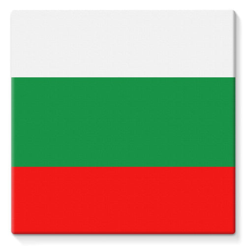 Basic Bulgaria Flag Stretched Canvas Wall Decor Flagdesignproducts.com