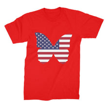 Usa Flag Butterfly Unisex Fine Jersey T-Shirt Apparel Flagdesignproducts.com