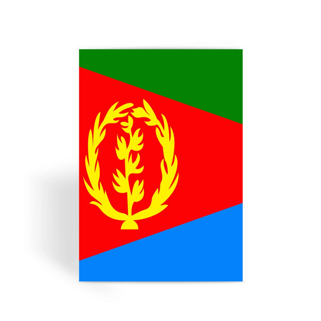 Flag Of Eritrea Greeting Card Prints Flagdesignproducts.com