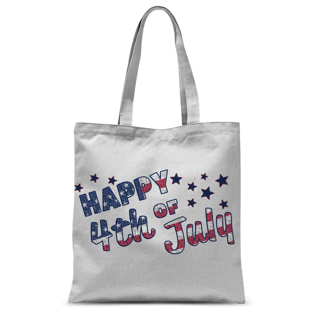4Th July Usa Text Flag Sublimation Tote Bag Accessories Flagdesignproducts.com