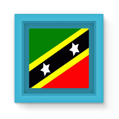 Flag Of Saint Kitts & Nevis Magnet Frame Homeware Flagdesignproducts.com