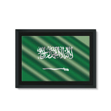 Waving Saudi Arabia Flag Framed Eco-Canvas Wall Decor Flagdesignproducts.com