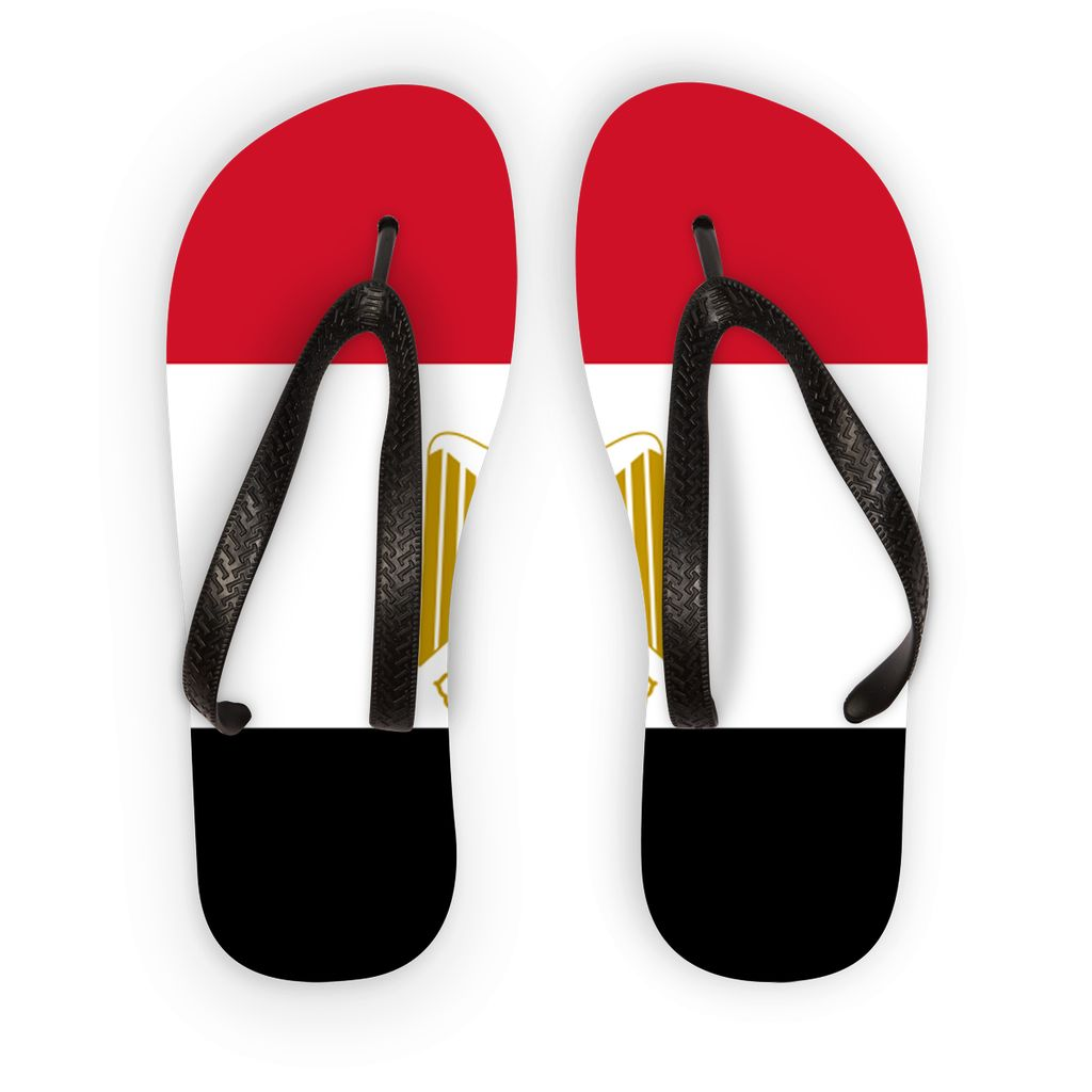 Basic Egypt Flag Flip Flops Accessories Flagdesignproducts.com