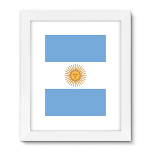 Argentina Flag Framed Fine Art Print Wall Decor Flagdesignproducts.com
