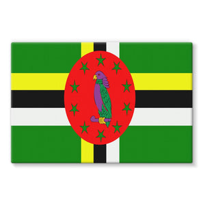 Flag Of Dominica Stretched Eco-Canvas Wall Decor Flagdesignproducts.com