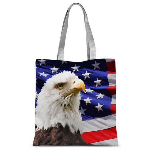 American Eagle And Usa Flag Sublimation Tote Bag Accessories Flagdesignproducts.com
