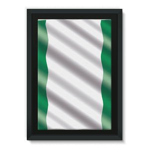 Waving Nigeria Flag Framed Eco-Canvas Wall Decor Flagdesignproducts.com