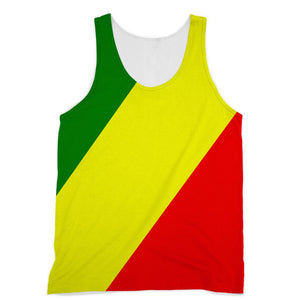 Flag Of The Rep Congo Sublimation Vest Apparel Flagdesignproducts.com