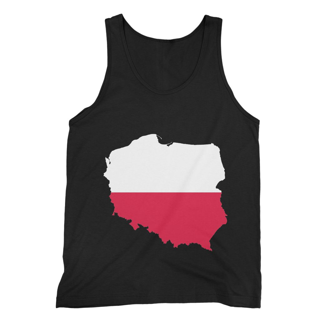 Basic Poland Continent Flag Fine Jersey Tank Top Apparel Flagdesignproducts.com