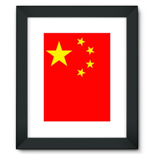 Basic China Flag Framed Fine Art Print Wall Decor Flagdesignproducts.com