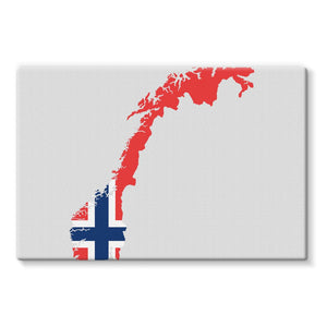 Norway Continent Flag Stretched Canvas Wall Decor Flagdesignproducts.com