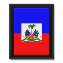 Flag Of Haiti Framed Eco-Canvas Wall Decor Flagdesignproducts.com
