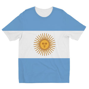 Argentina Flag Kids Sublimation T-Shirt Apparel Flagdesignproducts.com