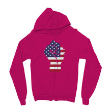 America First Hand Flag Kids Zip Hoodie Apparel Flagdesignproducts.com