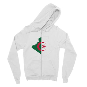 Algeria Continent Flag Fine Jersey Zip Hoodie Apparel Flagdesignproducts.com