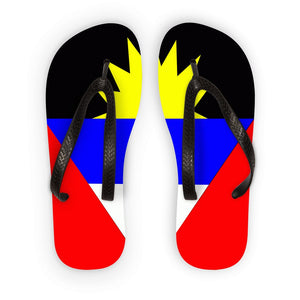 Flag Of Antigua And Barbuda Flip Flops Accessories Flagdesignproducts.com