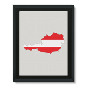 Austria Continent Flag Framed Canvas Wall Decor Flagdesignproducts.com