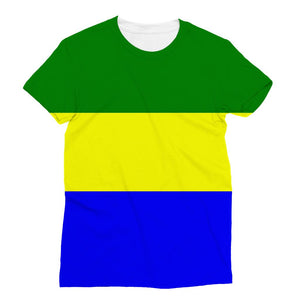 Flag Of Gabon Sublimation T-Shirt Apparel Flagdesignproducts.com