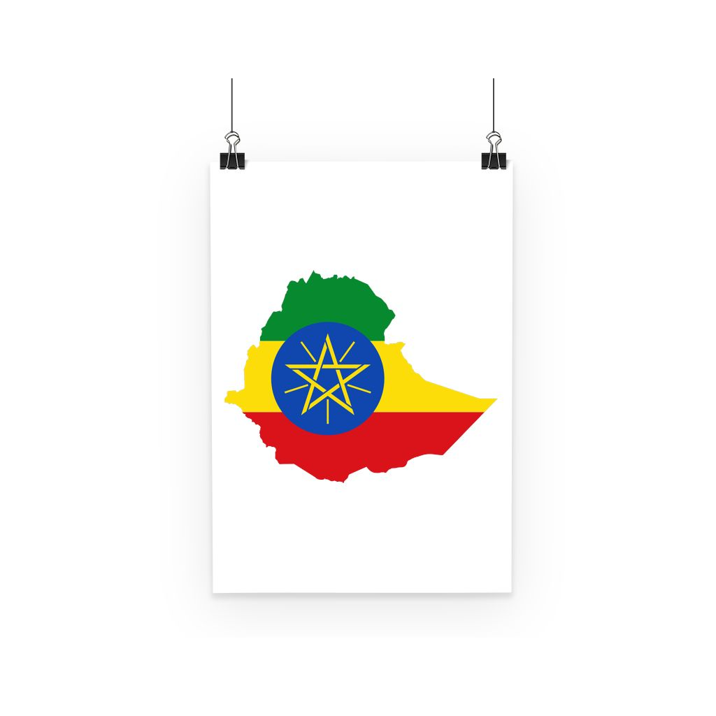 Ethiopia Continent Flag Poster Wall Decor Flagdesignproducts.com