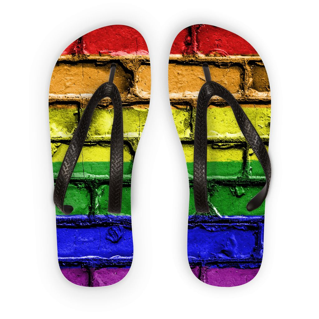 Colorful Lgbt Rainbow Flag Flip Flops Accessories Flagdesignproducts.com