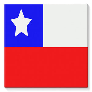 Flag Of Chile Stretched Eco-Canvas Wall Decor Flagdesignproducts.com
