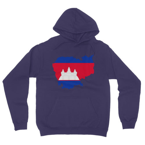 Cameroon Continent Flag California Fleece Pullover Hoodie
