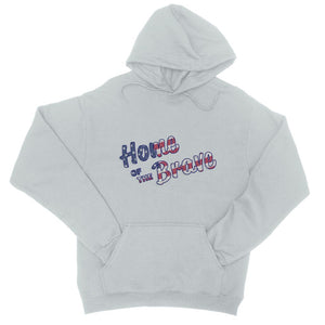 Home Of The Brave Usa Flag College Hoodie Apparel Flagdesignproducts.com