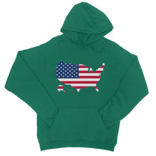 United States Continent Flag College Hoodie Apparel Flagdesignproducts.com