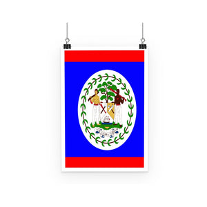 Flag Of Belize Poster Wall Decor Flagdesignproducts.com