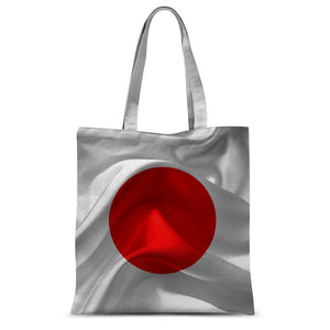Waving Fabric Japan Flag Sublimation Tote Bag Accessories Flagdesignproducts.com