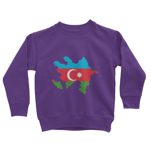 Azerbaijan Continent Flag Kids Sweatshirt Apparel Flagdesignproducts.com