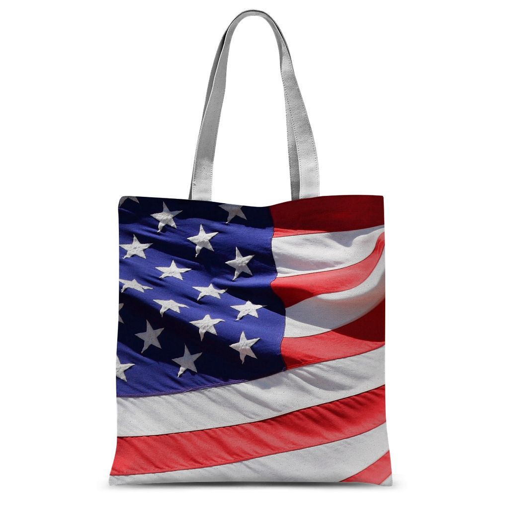 Waving America Usa Flag Sublimation Tote Bag Accessories Flagdesignproducts.com