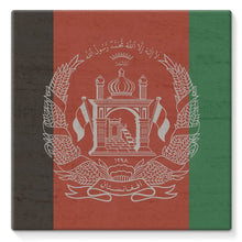 Afganistan Stone Wall Flag Stretched Canvas Wall Decor Flagdesignproducts.com