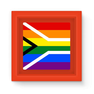 South African Rainbow Flag Magnet Frame Homeware Flagdesignproducts.com