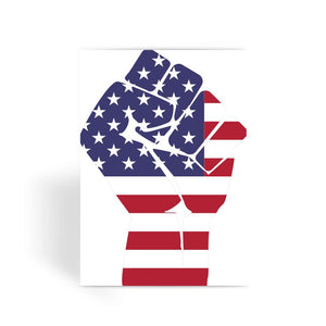 America First Hand Flag Greeting Card Prints Flagdesignproducts.com