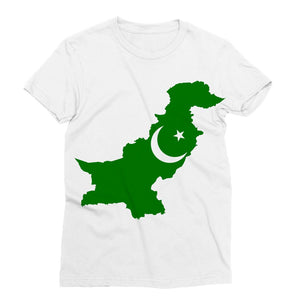 Pakistan Continent Flag Sublimation T-Shirt Apparel Flagdesignproducts.com