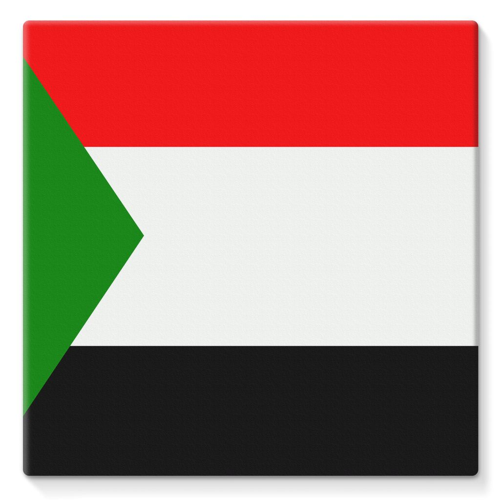 Flag Of Sudan Stretched Canvas Wall Decor Flagdesignproducts.com