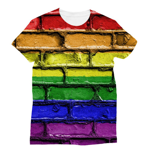 Colorful Lgbt Rainbow Flag Sublimation T-Shirt Apparel Flagdesignproducts.com