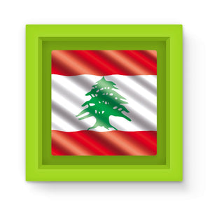 Waving Lebanon Flag Magnet Frame Homeware Flagdesignproducts.com