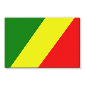 Flag Of The Rep Congo Stretched Eco-Canvas Wall Decor Flagdesignproducts.com