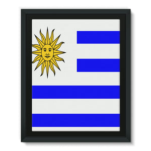Flag Of Uruguay Framed Eco-Canvas Wall Decor Flagdesignproducts.com