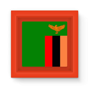 Flag Of Zambia Magnet Frame Homeware Flagdesignproducts.com
