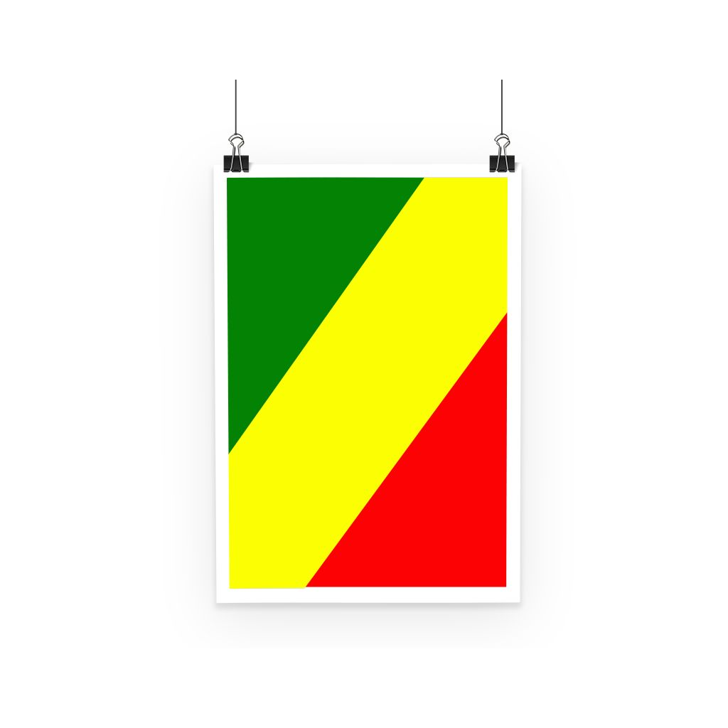 Flag Of The Rep Congo Poster Wall Decor Flagdesignproducts.com