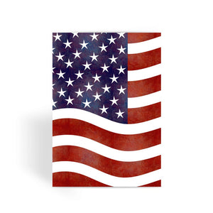 Waving Old Usa Flag Greeting Card Prints Flagdesignproducts.com