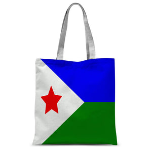 Flag Of Djibouti Sublimation Tote Bag Accessories Flagdesignproducts.com