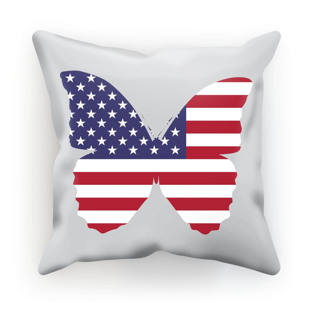 Usa Flag Butterfly Cushion Homeware Flagdesignproducts.com