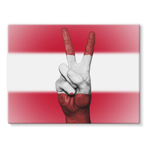 Austria Flag And Hand Stretched Canvas Wall Decor Flagdesignproducts.com