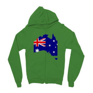 Australia Continent Flag Kids Zip Hoodie Apparel Flagdesignproducts.com
