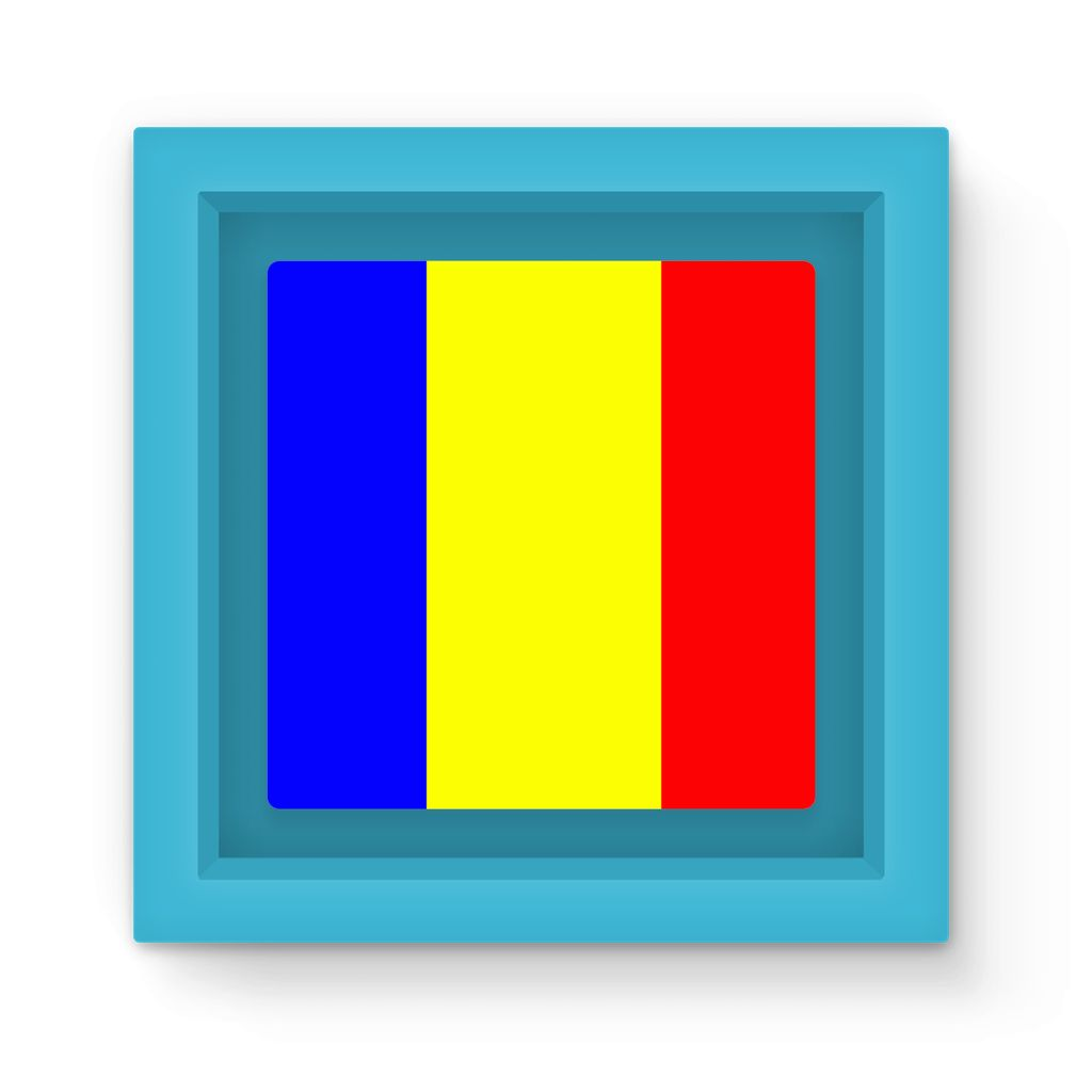 Flag Of Chad Magnet Frame Homeware Flagdesignproducts.com