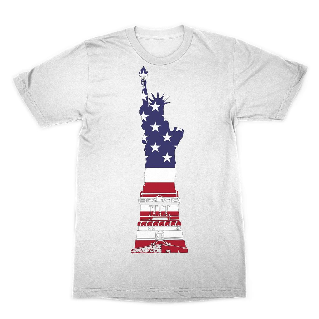 Usa Flag State Of Liberty Sublimation T-Shirt Apparel Flagdesignproducts.com